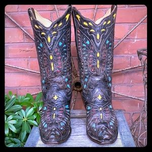 CORRAL RARE Butterfly Inlay Tall Heeled Boots